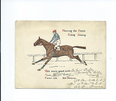 WW1 21st Division Xmas Card  O&B L.I. & 15th D.L.I. interest 1918
