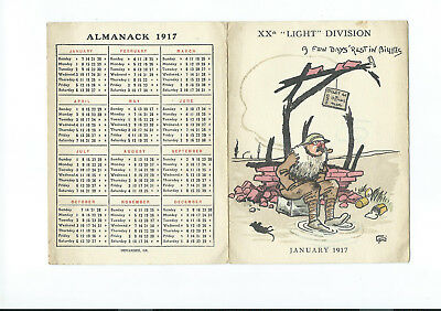 WW1 20th (Light) Division Folding Xmas Card 1916