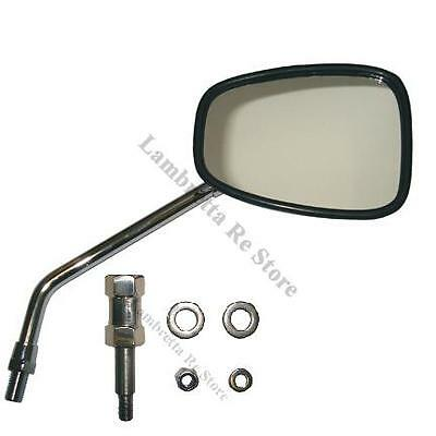Lambretta Square Rear View Mirror and Adapter