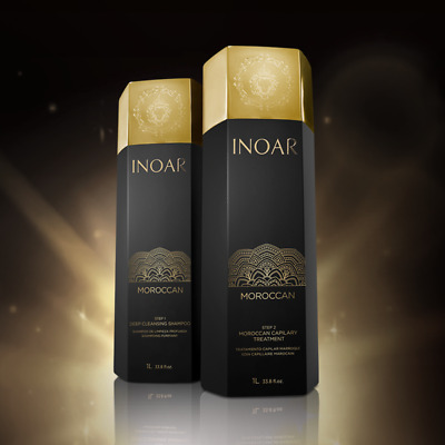Inoar Moroccan Brazilian Keratin Treatment Hair Straightening Shampoo & Keratin