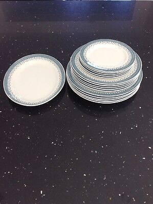16 Pc Plate Set .Losol Ware Claremont Keeling & Co Blue& White Plates.WOKING.