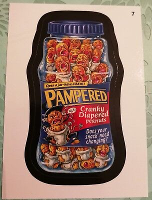 Wacky Packages Topps Card 2014 Series 1 Black Pampered #7 Non Sports Card Mint