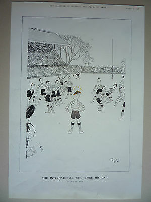 """Rugby. """" The International Who Wore His Cap """" 1928. Rare."""