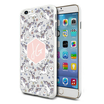 Grey White Unicorn Cute Personalised Custom Phone Case Cover For Mobiles