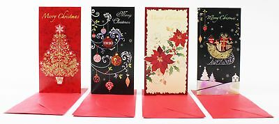 4 Pack of Vintage Christmas Money Wallets Gift Cards Envelopes Handmade MW-G7
