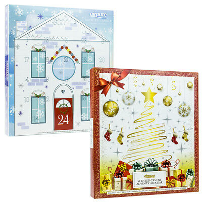 2017 Airpure Scented Candle Xmas Advent Calendar 23 Tealights & 1 Votive Candle
