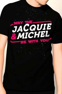 Tee-shirt May The Jacquie & Michel be with you 12269 Noir Tailles M L XL ou XXL