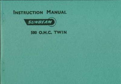 Sunbeam S7 S8 Instruction Manual 1957 A book by Sunbeam Motorcycles