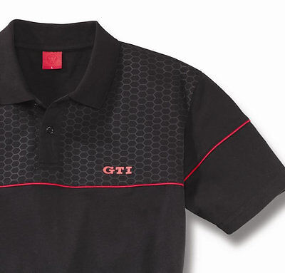 VW GTi COLLECTION MEN'S BLACK RED POLO T SHIRT – GENUINE VOLKSWAGEN MERCHANDISE