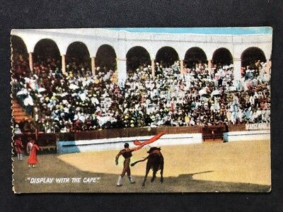 "Vintage Postcard: Animals #A129 ""Display Cape"" Benzaquen Gibraltar: Bull Fighter"