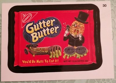 Wacky Packages Topps Card 2014 Series 1 Black Gutter Butter #30 Non Sports Card