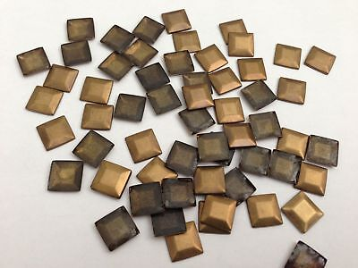 Hot Fix or Iron on Square Flat Metal stunning quality Studs in Various Colours