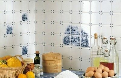 SAMPLE ONLY OF Classic Blue Delft Pattern ceramic tiles