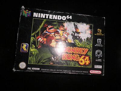 n64 -  donkey kong 64 - empty box only