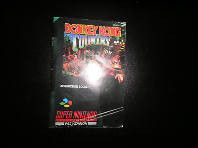 snes - donkey kong country   - instructions