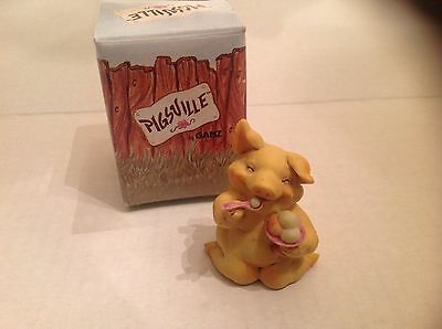 Ganz Pigsville Figurine Ice Cream Anyone 1992 NIB