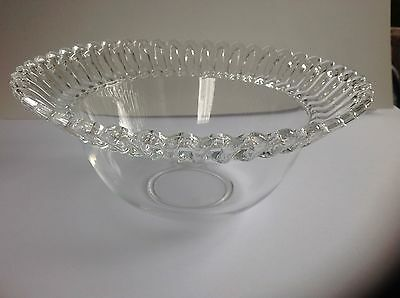 Depression clear  Iridescent Bowl with Open Lace Edge Style