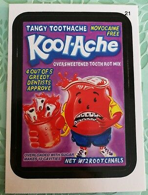 2014 Topps Wacky Packages Card Series 1 Mint Black #21 Kool-Ache