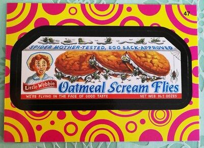 Wacky Packages Topps Card 2014 Series 1 Black Oatmeal Scream Flies #47 Mint