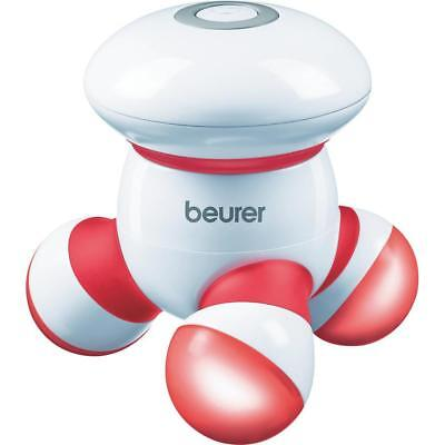 beurer Mini-Massager MG16 rot Vibrationsmassage klein und Handlich LED Licht