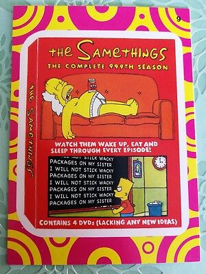 Wacky Packages Topps Card 2014 Series 1 Black The Samethings Terrible TV #9