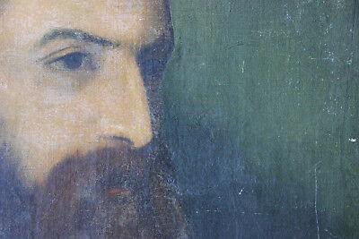 Antique Circle of Watts; Oil on Canvas Portrait of a Bearded Gentleman c.1850-70