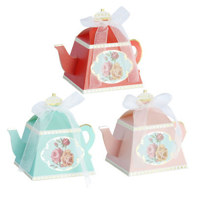 10PCS European Style Teapot Paper Candy Box Chocolate Gift Wedding Party Favor