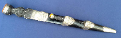 Epic Scottish Highland Silver Mounted Nicely Decorated Traditional Scotland Dirk