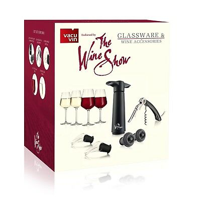 Vacu Vin The Wine Show Glassware & Wine Accessories Gift Set