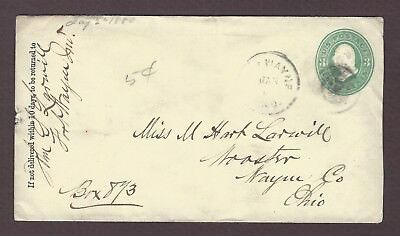 mjstampshobby 1880 US Vintage Cover Used (Lot4763)