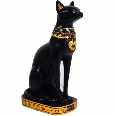"15"" Ancient Egypt Kitty Egyptian Bastet Cat Goddess Statue Collectible Bastet"