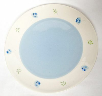 Arthur Wood Blue Rose Dinner Plates x 4 - Cream With Blue Rose - 10 Inch