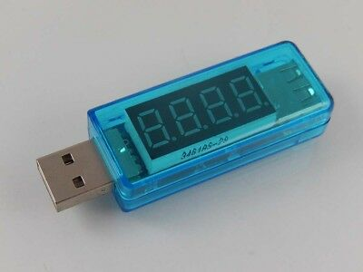 1x USB voltmeter blue with power indicator