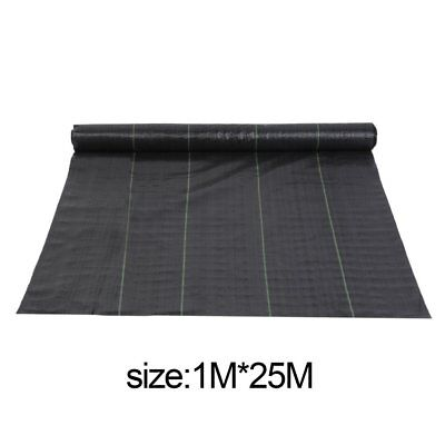 1M*25M Wide Heavy Duty Weed Control Fabric Ground Cover Membrane Landscape Hot
