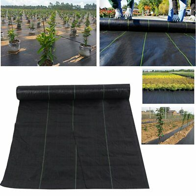 Hot Weed Control Fabric Ground Cover Membrane Landscape Mulch Garden 2M Wide