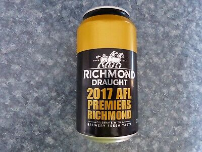Richmond Tigers 2017 Premiership Beer Can - Great collectors piece - EMPTY CAN