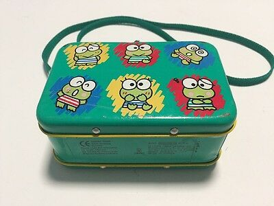 Vintage SANRIO METAL Purse LUNCH BOX with Strap