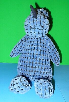 """Adorable Cuddly Cute Retired Blue Dippy Dino London JellyCat First Steps NWT 12"""""""