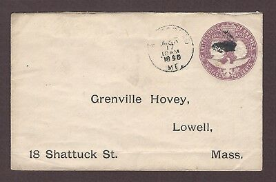 mjstampshobby 1896 US To Grenville Hovey Used Cover (Lot4737)