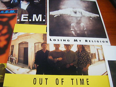 R.E.M set of 7 Postcards - 1992 issued by Damaged Goods