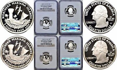 2009-S Northern Marianas Proof 2 Coin Lot Silver/Clad NGC PF 70 Ultra Cameo