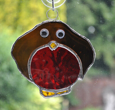 Stained Glass Christmas decoration - Robin
