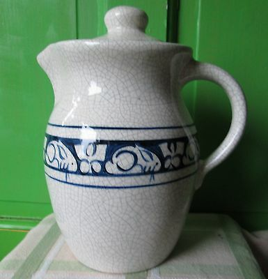 """Potting Shed Dedham Rabbit Coffee Pot Covered Pitcher 8.75"""" PERFECT"""