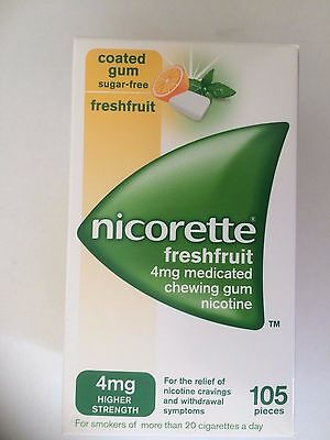 NICORETTE Freshfruit 4mg Medicated Chewing Gum Nicotine - 105 Pieces
