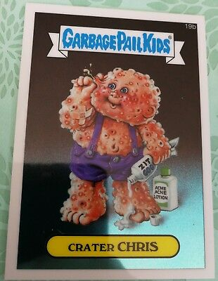 Garbage Pail Kids Chrome Topps Card 2013 Series 1 Crater Chris 19B Combine Ship