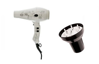 Parlux 3200 White Flower Compact Ceramic Ionic Hair Dryer and Hair Tools Univers
