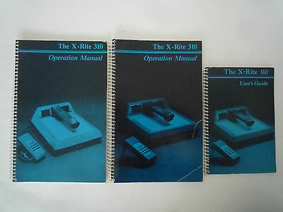 x-rite 310 Manual and Users Guide Bedienungsanleitung
