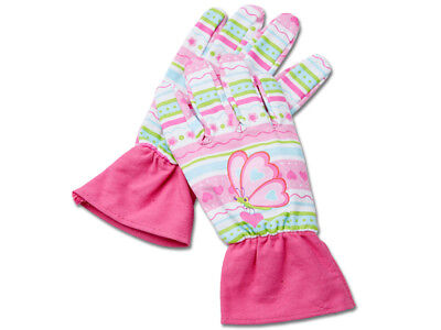Melissa & Doug Pink Butterfly Kids Garden Gloves  One Size suit 3 - 6 years