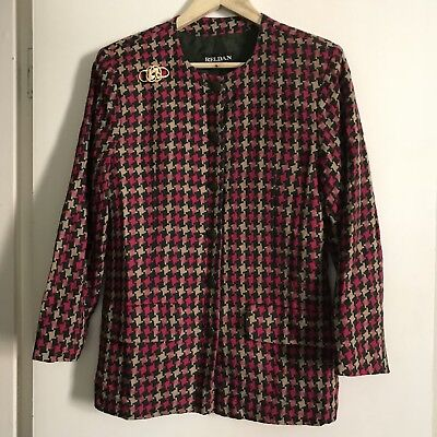 80s Houndstooth Check Jacket