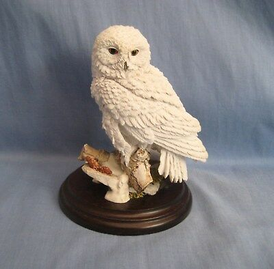 Country Artists SNOWY OWL CA 962 - Border Fine Arts Style - EXC COND